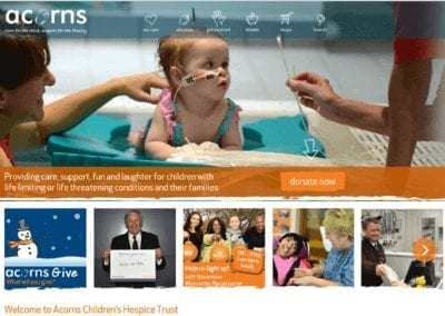 Acorns Children's Hospice Homepage