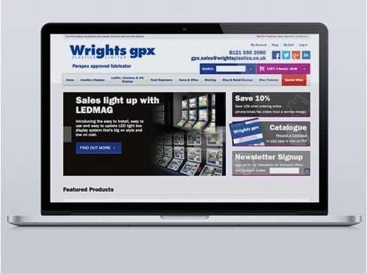Wrights Plastics Joomla Website