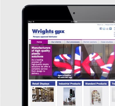 Wrights Plastics Web Design