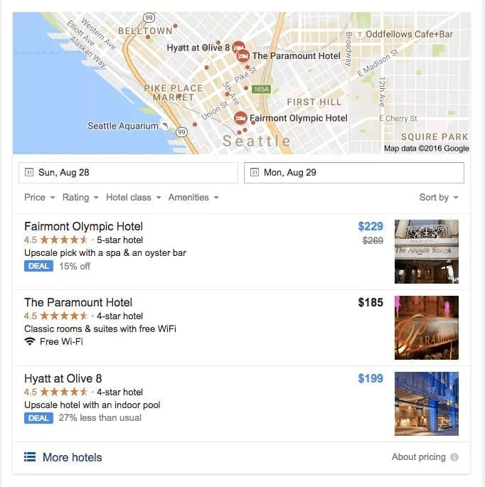 Google Maps and My Business results