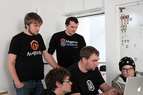 Magento developers at work