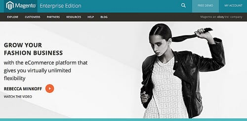 Magento Enterprise Edition is ideally for many business genres including Fashion.
